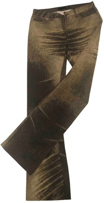 Just Cavalli Gold Cotton Jeans for Women
