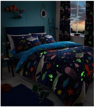 Bedlam Sea Life Glow In The Dark Single Duvet Cover Set