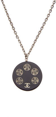Chanel Silver-Tone Acrylic Necklace