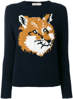 MAISON KITSUNÉ fox intarsia jumper - women - Lambs Wool - S
