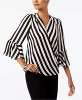 INC International Concepts Striped Surplice Top, Created for Macy's
