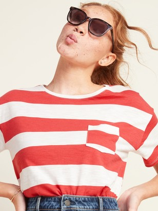 Old Navy Loose Striped Pocket Easy Tee for Women