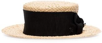 Maison Michel Kiki woven boater hat