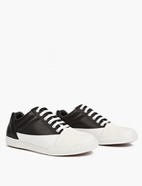 Marni Monochrome Leather Capped Sneakers