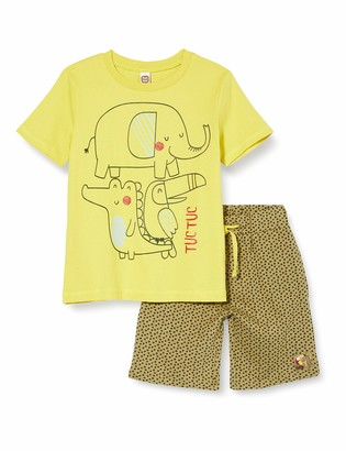 Tuc Tuc Green Jersey T-Shirt and Bermudas Set for BOY Tropical Jungle