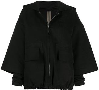 Rick Owens Hooded Oversize Sleeve Jacket