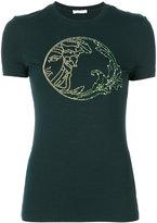 Versace embellished logo T-shirt - women - Spandex/Elastane/Viscose - 42