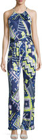 Alice & Trixie Audrey Printed Sleeveless Jumpsuit, Navy