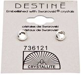 Crystallite Destine Clear Framed Flatback Earrings