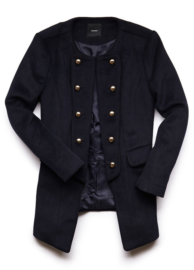Forever 21 Cutout Military Coat
