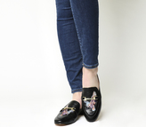 Office Fizzy Embroidered Flat Loafers