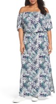 Sejour Plus Size Women's Off The Shoulder Maxi Dress