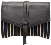 Isabel Marant Harlin Striped Canvas Clutch