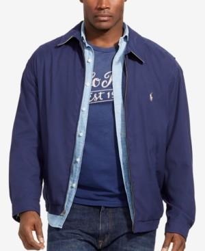 Polo Ralph Lauren Men's Big & Tall Jackets, Bi-Swing Windbreaker ...