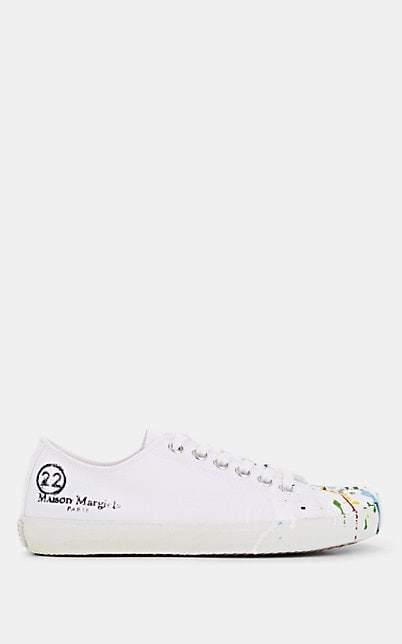 Maison Margiela Women's Tabi Canvas Sneakers - White