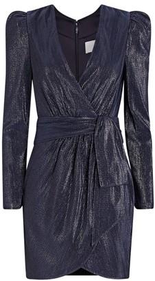 Jonathan Simkhai Metallic Mini Wrap Dress