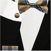 Bestow Neckties Plaid Bow Ties (Pre-Tied) - Cufflinks + Hanky