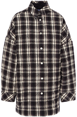 IRO Quilted Checked Cotton-flannel Jacket