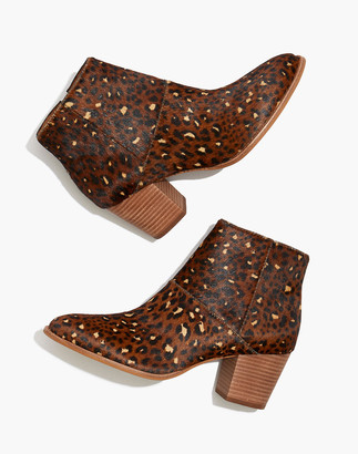Madewell The Rosie Ankle Boot in Painted Leopard Calf Hair
