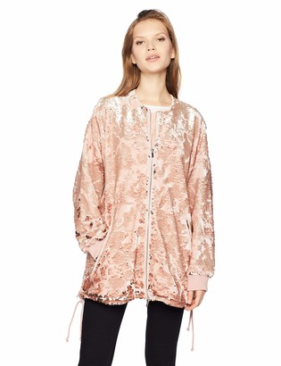French Connection Women's Adette Shine Oversized Sequin Jacket