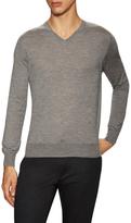 Lanvin Cashmere Solid V-Neck Sweater