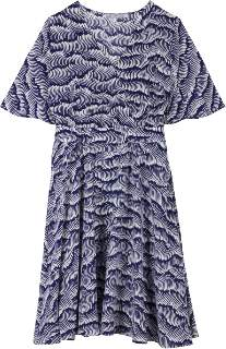 Maison Martin Morel - Blue Wave Silk Dress - S - Blue/White