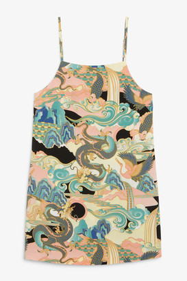 Monki Spaghetti strap A-line dress