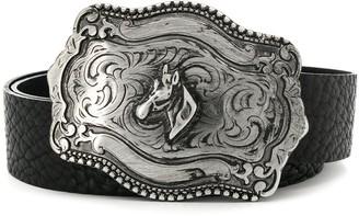 B-Low the Belt Horse Detail Buckle Belt