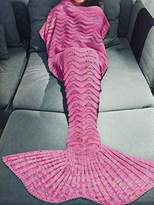 YiZYiF Mermail Tails Costume Adults Kids Teens All Reasons Blankets for Bedroom Living Room (Pink Wave(Adults))