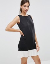 Daisy Street Shift Dress With Frill Hem