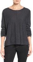 Eileen Fisher Organic Linen & Cotton Top (Regular & Petite)
