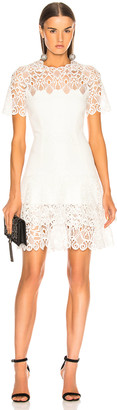 Jonathan Simkhai Multimedia Lace Mini Tee Dress in White | FWRD