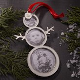 Crate & Barrel Snowman Photo Frame Ornament with 2016 Charm