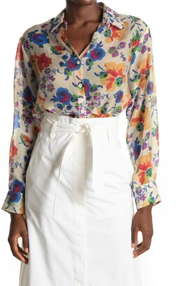 Paul & Joe Sister Alma Floral Long Sleeve Tunic Blouse