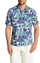 Gant Beach Print Poplin Short Sleeve Regular Fit Shirt