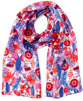 Echo Painted Floral Silk Oblong Scarf