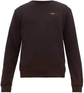 Off-White Off White Diagonal Arrows Print Cotton Jersey Sweatshirt - Mens - Black Yellow