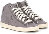 Leather Crown Kids - hi-top sneakers - kids - Artificial Leather/Cotton/rubber - 20