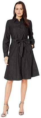 Lauren Ralph Lauren Belted Shirtdress (Nightfall Wash) Women's Dress