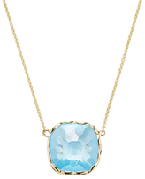 Roberto Coin 18K Yellow Gold Ipanema Blue Topaz Necklace