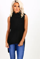 Pink Boutique Delaney Black Knitted Sleeveless Jumper