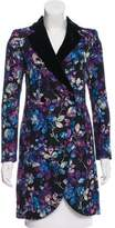 Emporio Armani Jacquard Notch-Lapel Coat