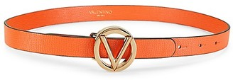 Valentino By Mario Valentino Baby Palmellato Leather Logo Belt