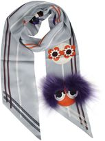 Fendi Monster Print Scarf