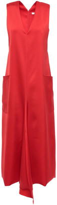 Tibi Asymmetric Satin-crepe Midi Dress