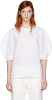 J.W.Anderson White Puff Sleeve Blouse