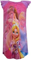 AME Sleepwear Rapunzel, Belle, Cinderella and Ariel Sheer Overlay Nightie for girls