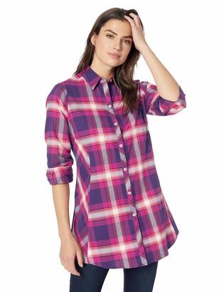 Foxcroft Women's Cici Brushed Tartan Plaid Tunic