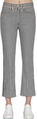 Rag & Bone Striped Vintage Straight Denim Jeans