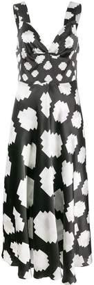 Marni pixelated dots long dress
